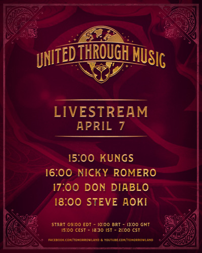 Over 2.9 million people worldwide from 178 different countries tuned in to Tomorrowland's first ever United Through Music live broadcast