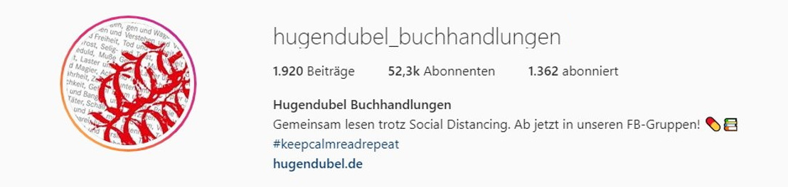 Hugendubel verlegt Lesungen auf Instagram