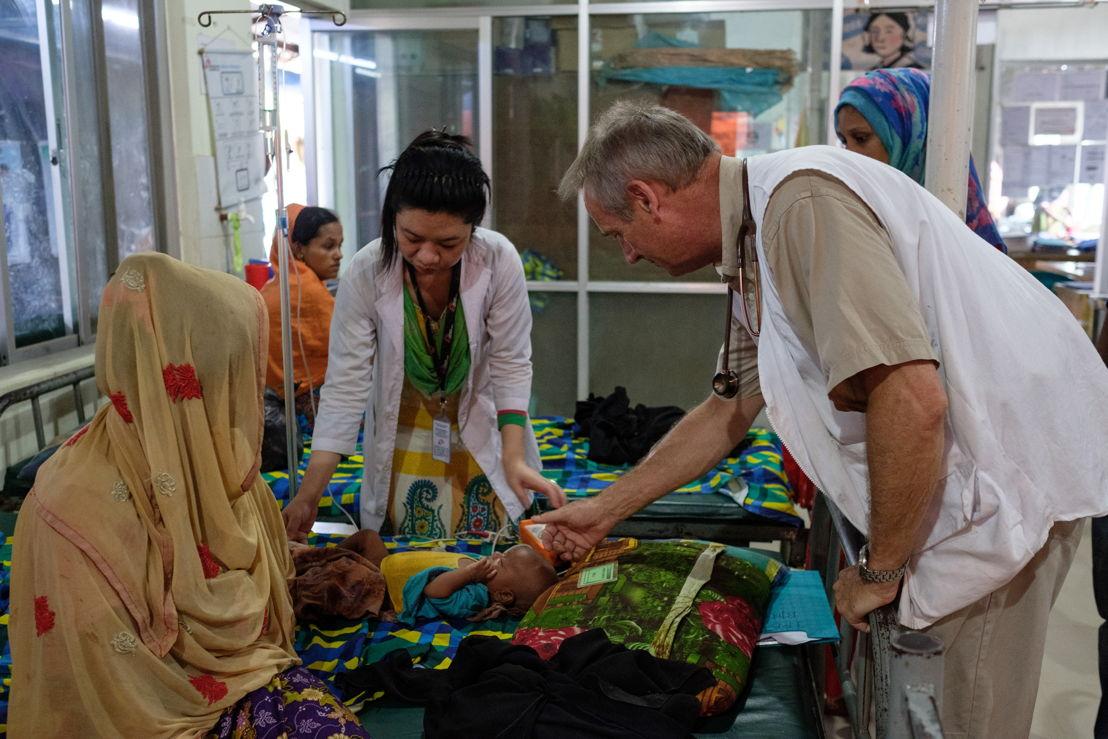 쿠투팔롱에 있는 국경없는의사회 클리닉에서 로힝야 난민이 치료를 받고 있다. ©Antonio Faccilongo/MSF