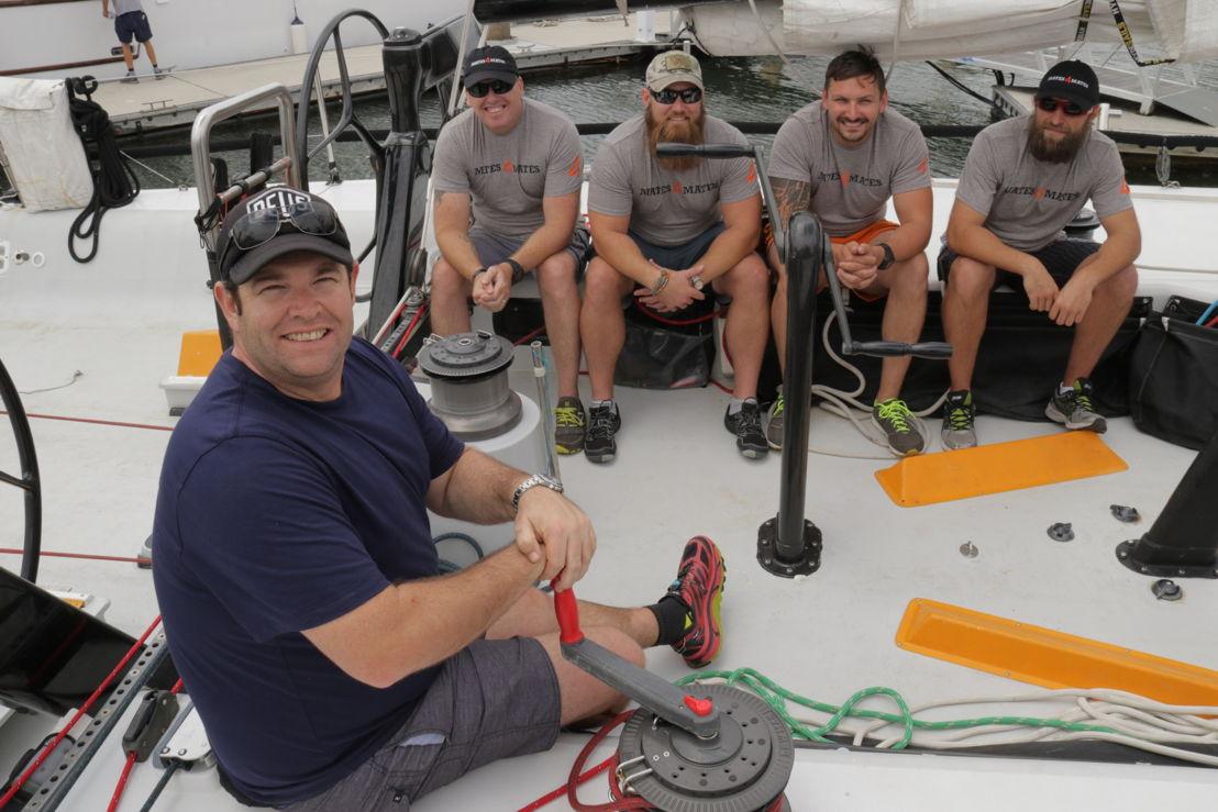 Gus sailing with the Mates 4 Mates guys