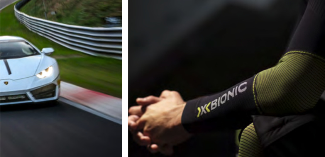 Super sportscar meets super sportswear: the collaboration between X-BIONIC and Lamborghini enters a new race