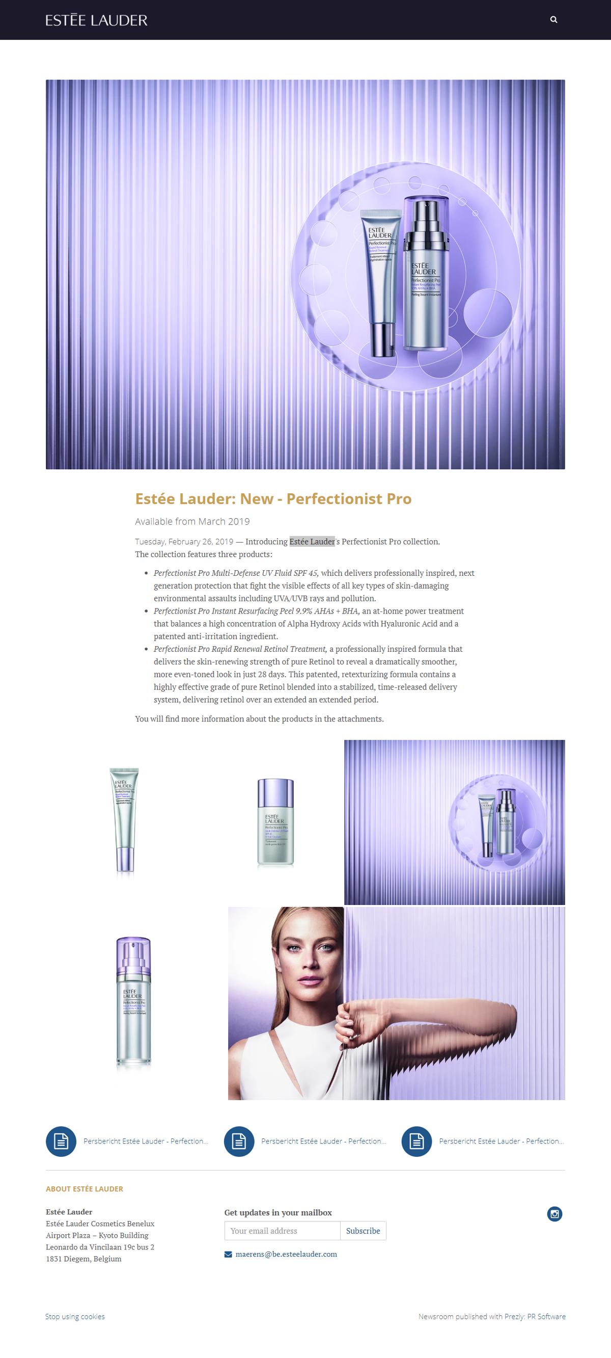 Estée Lauder: New - Perfectionist Pro