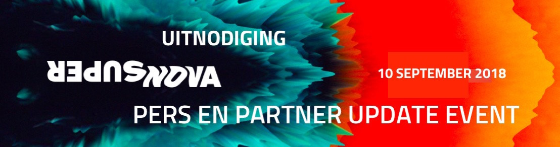 Uitnodiging: pers en partner update event, SuperNova 2018