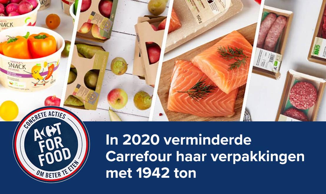 In 2020 verminderde Carrefour haar verpakkingen met bijna 2000 ton