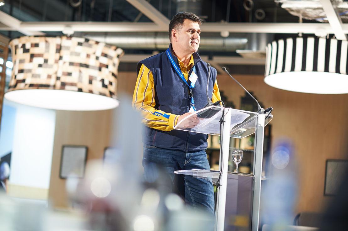 Petr Pokorny winkeldirecteur van IKEA Mons © David Plas