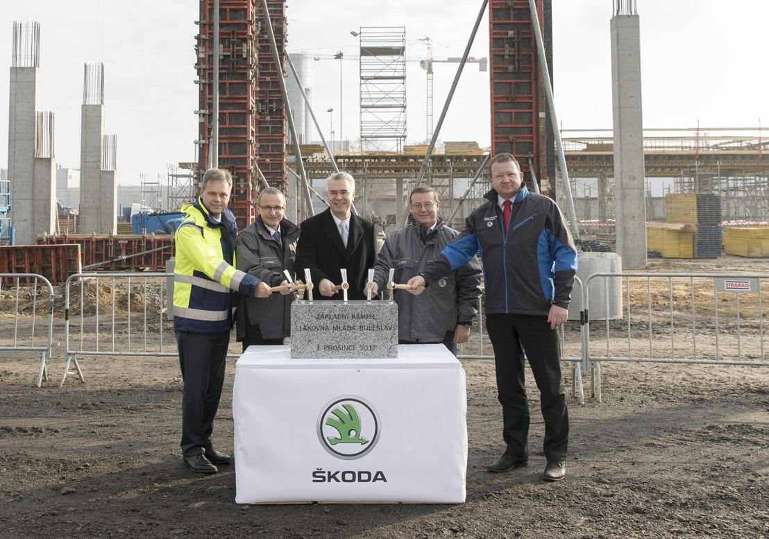 ŠKODA AUTO lays the foundation for new paint shop at its main plant in Mladá Boleslav