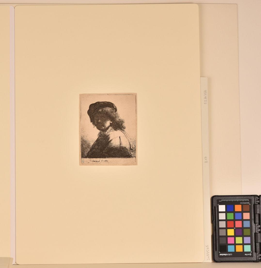 Zelfportret van Rembrandt, na behandeling.