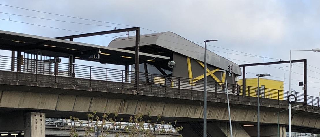 Station Villette : les travaux de revêtement de sol se poursuivent