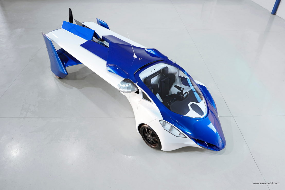 AeroMobil 3.0 car configuration view from above