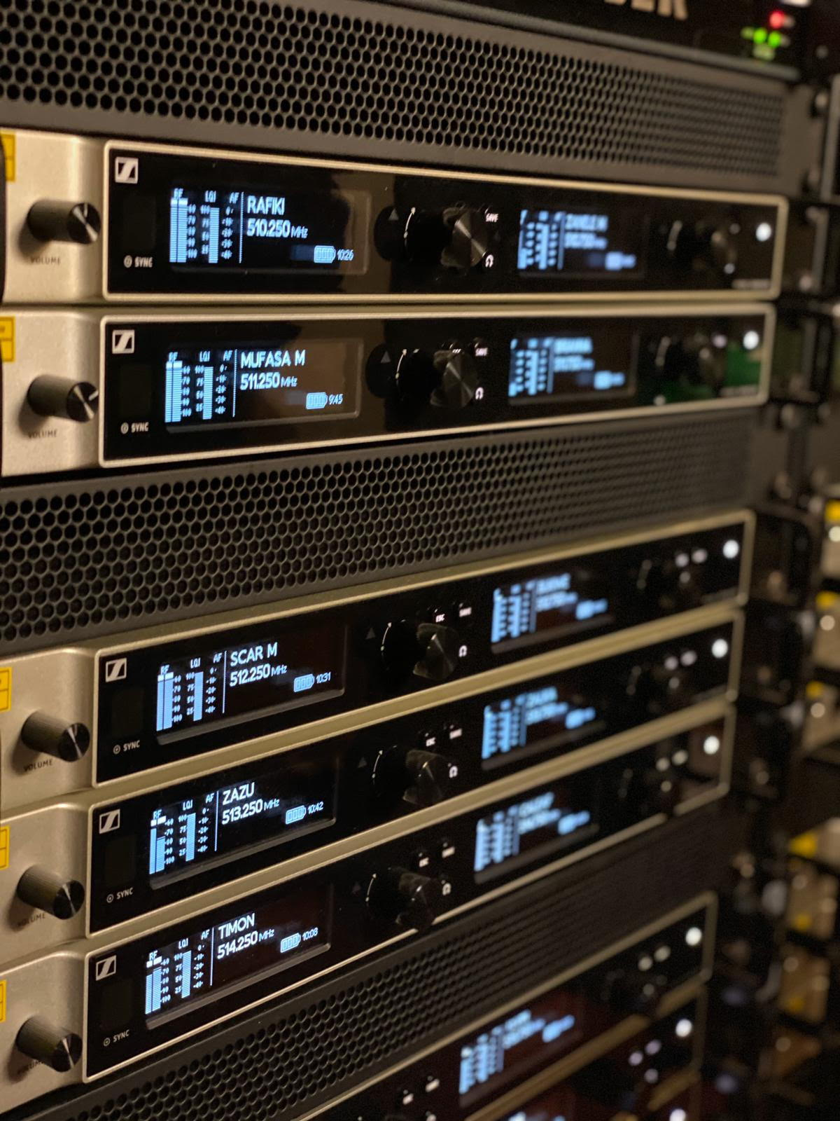Sennheiser Digital 6000 series rack used on The Lion King musical