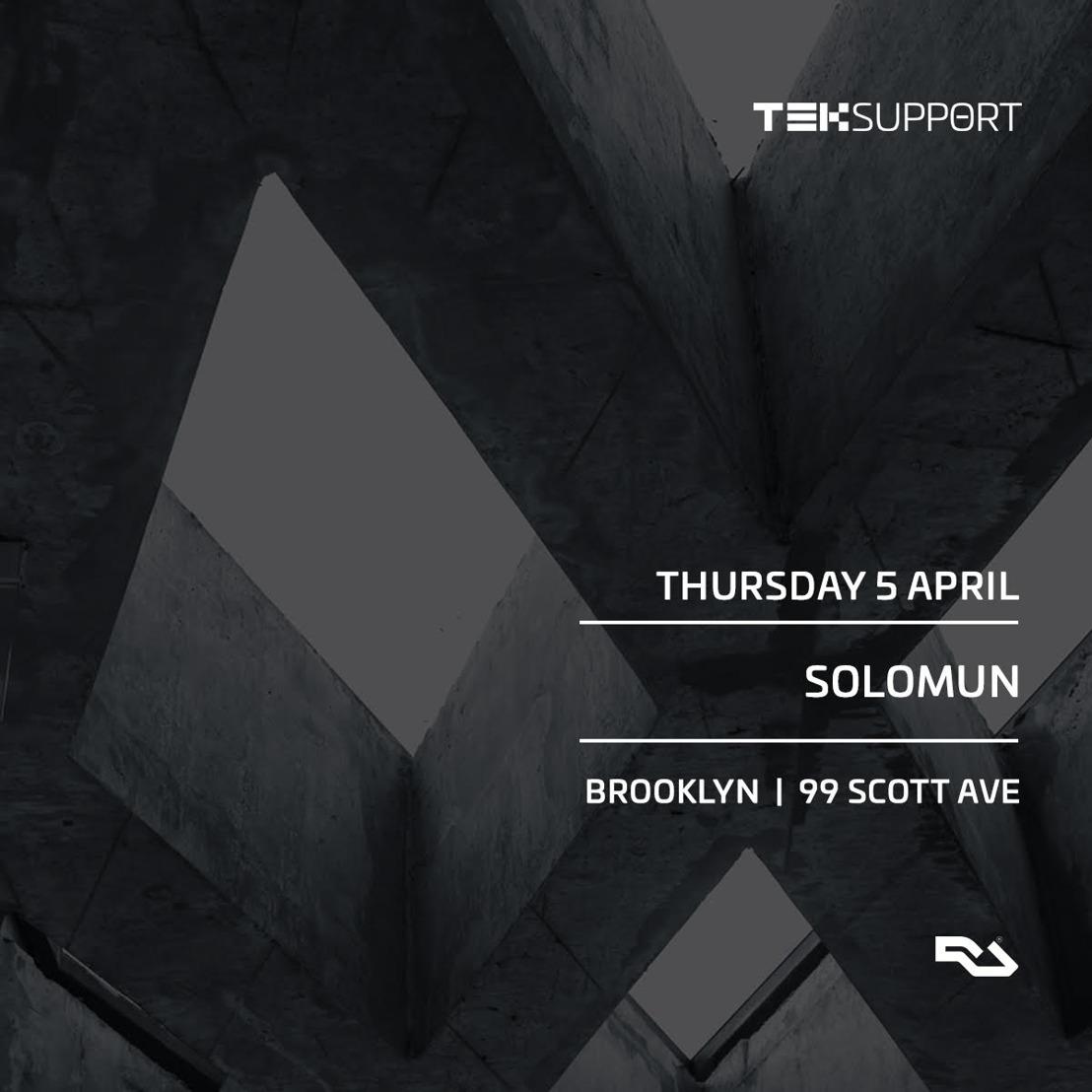 Teksupport Announces April 5 Event Featuring Solomun