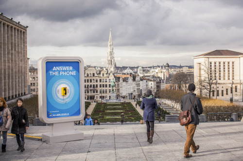 With the #CallBrussels campaign, visit.brussels aims to convince tourists that Brussels is still a destination of choice