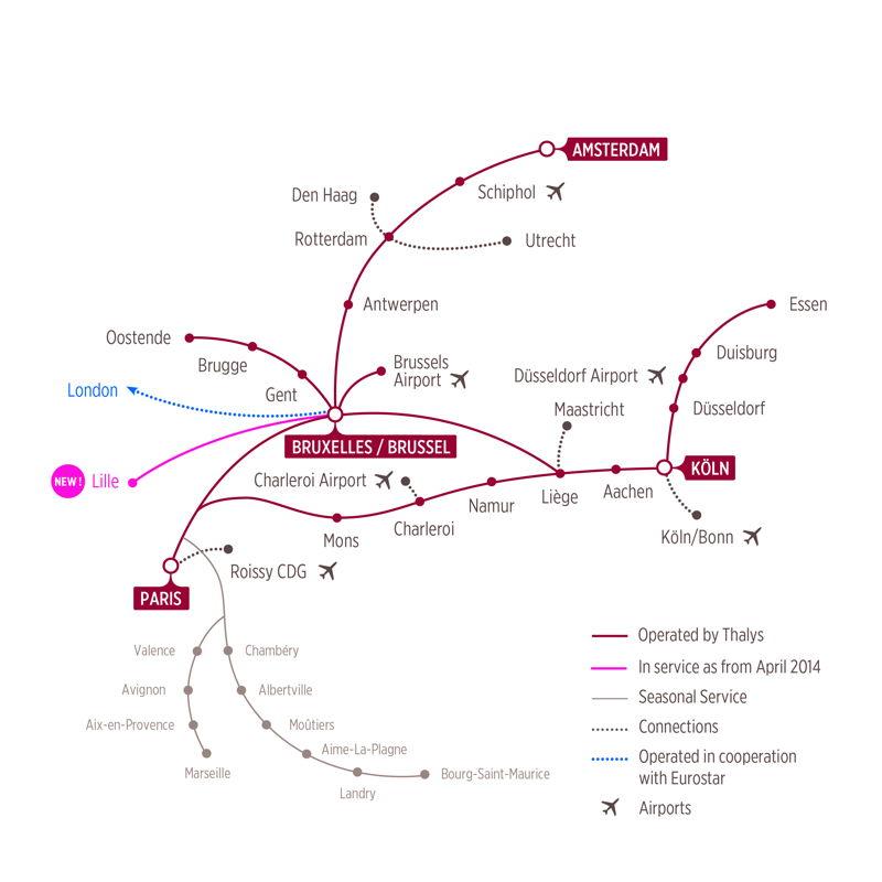 Thalys réseau