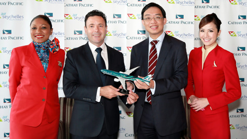 Cathay Pacific adds Seychelles to network through new code-share agreement with Air Seychelles