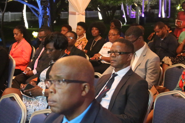 Participants at Opening Ceremony including Dr. George Mitchell, Chief Medical Officer, Grenada and Ms Pauline Peters, Permanent Secretary, Ministry of Health, Grenada