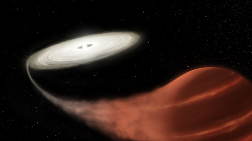 Astronomers spot 'vampire' star sucking life from victim