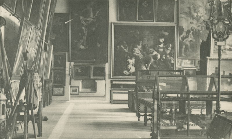 L'ancien musée de l'Hôtel de Ville, Louvain, XIXième siècle © M - Museum Leuven