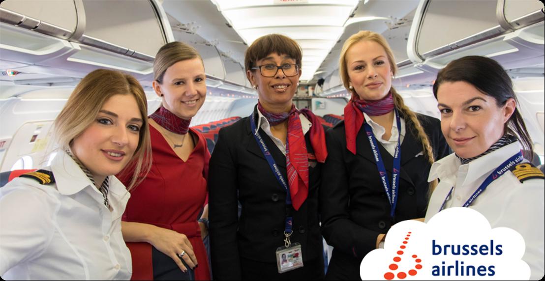 Brussels Airlines vliegt met 100% vrouwelijke crews naar Berlijn voor Internationale Vrouwendag