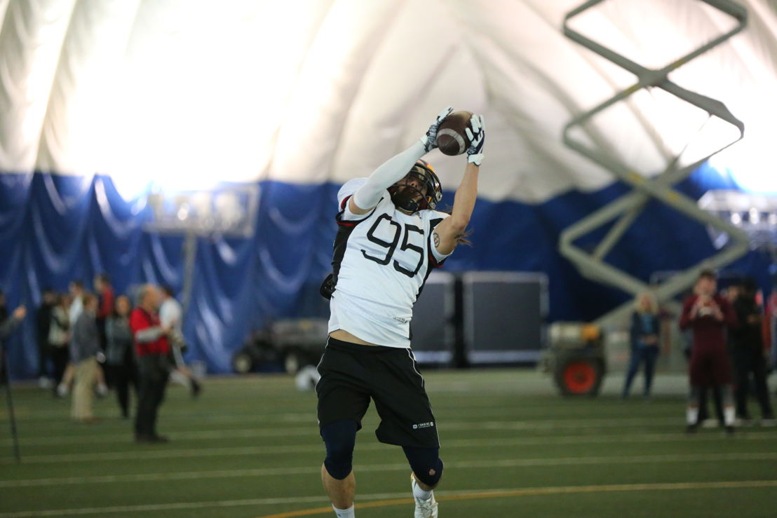Jacob Firlotte at the Ontario Regional Combine presented by adidas. Photo credit: Alex D'Addese/CFL.ca