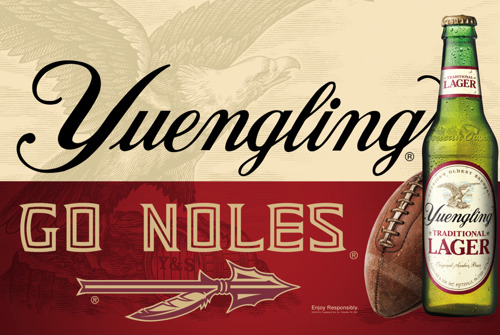 Yuengling Announces Partnership with the Florida State Seminoles