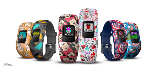 Preview: Garmin® en Disney stimuleren motivatie en verbeeldingskracht op de speelplaats met de introductie van de vívofit® jr. 2 activity tracker voor kinderen met Disney, Star Wars en Marvel