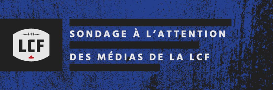 La LCF dévoile les résultats de son sondage de mi-saison à l'attention des représentants des médias