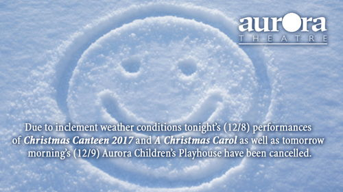 Preview: Inclement Weather Announcement from Aurora Theatre