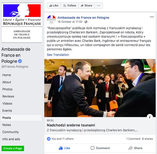 Embassy of France in Poland shared Charles Bark's s interview with Polish Media Rzeczpospolita