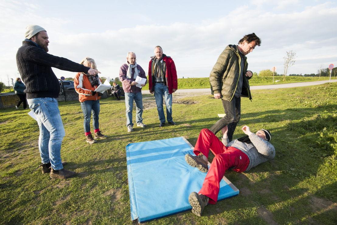 Geloofwaardig vechten met stuntcoördinator Robert De La Haye (c) Alex Vanhee/VRT