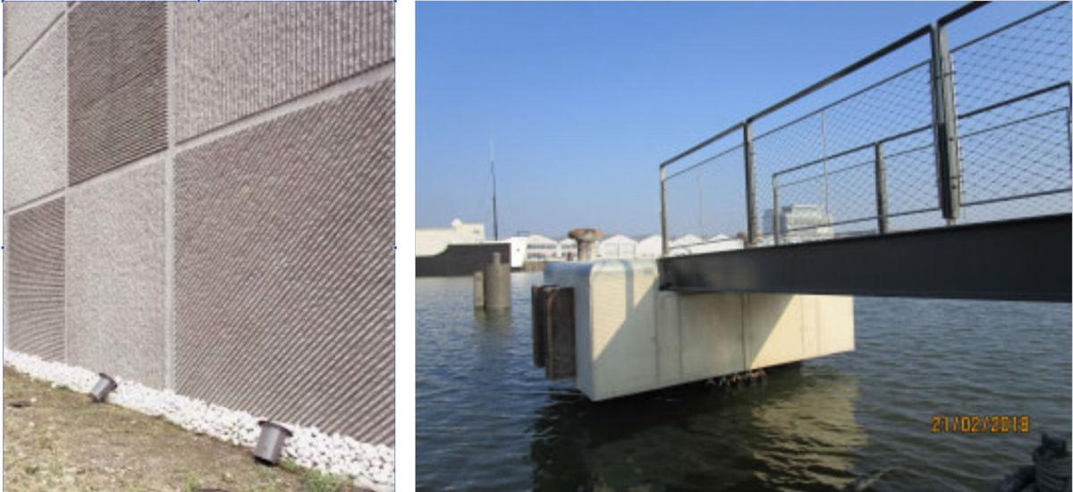 Port of Antwerp investeerde reeds in dokwanden met reliëf en in touwconstructies onder staketsels.