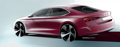 ŠKODA presents design sketches of new OCTAVIA