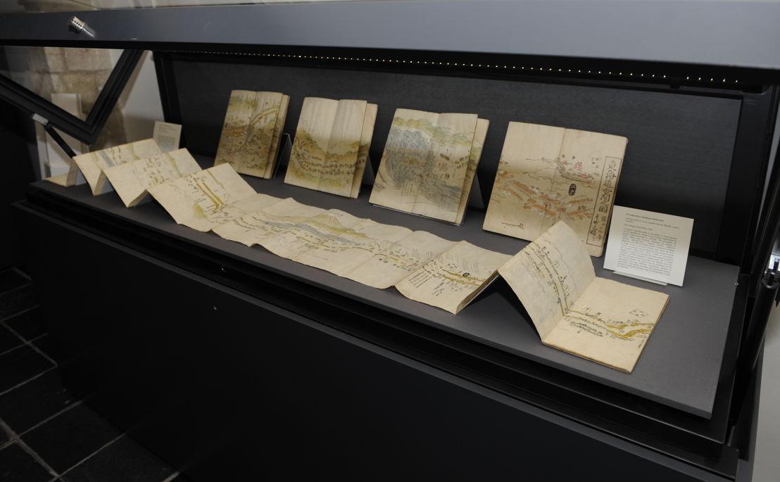 Impressie van de tentoonstelling: Tōkaidō bunken no zu [La grande route du Tōkaidō]