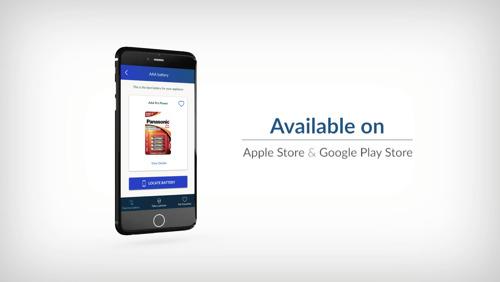 Ny Panasonic-app hjælper med at finde det rigtige batteri