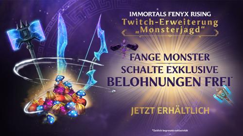 TWITCH ERWEITERUNG NAMENS MONSTERJAGD FÜR IMMORTALS FENYX RISING™ VORGESTELLT