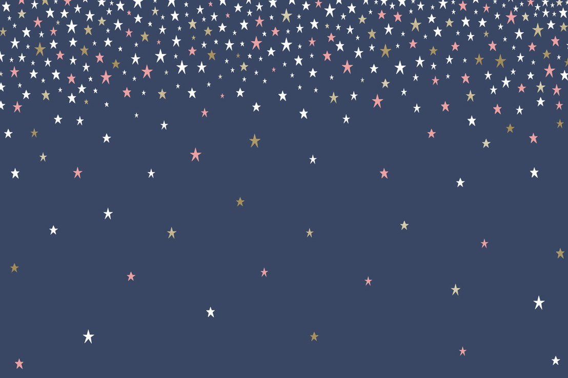 Falling Star Blue Wallpaper Mural