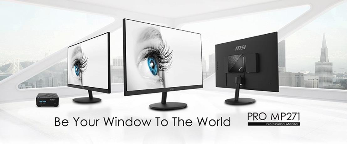 Die professionellen Monitore der MSI PRO MP271-Serie steigern die Produktivität zu Hause und im Büro