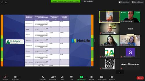 Иновационен лагер по финанси в дигитална среда с Junior Achievement България и MetLife