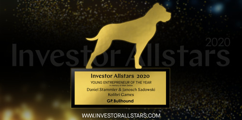 Kolibri Games CEOs Awarded as Young Entrepreneurs of the Year at Investor Allstars 2020