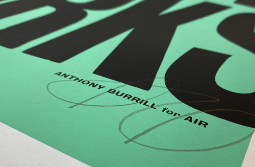 Air sets it's credo in stone (on paper) with Anthony Burrill