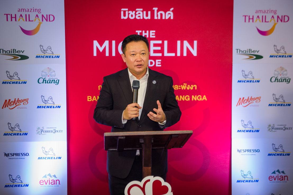 Yuthasak Supasorn kondigt de lancering van de nieuwe Michelin Gids Bangkok, Phuket en Phang-Nga aan