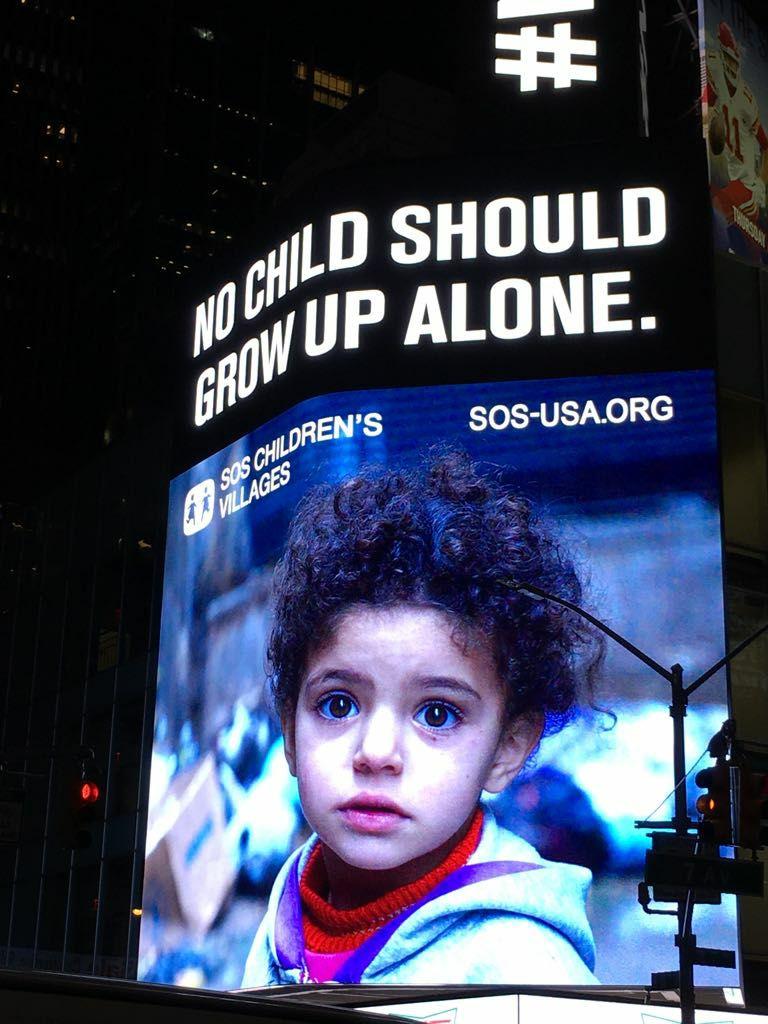 Image de la campagne sur Times Square NY