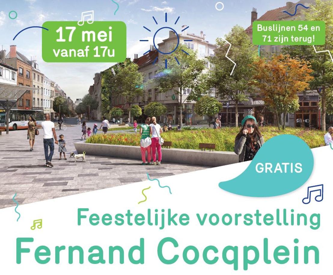 Persuitnodiging: feest voor het nieuwe Fernand Cocqplein