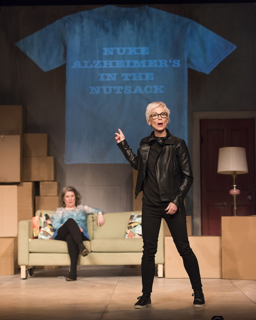 Alison Kelly, and Jill Daum in the 2016 production of Mom's the Word: Nest ½ Empty. Set and costume design by Pam Johnson and lighting design by Marsha Sibthorpe. Photo by Emily Cooper