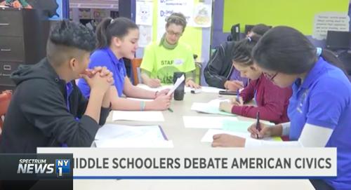 Middle Schoolers Debate American Civics