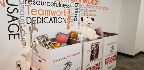 Employees Celebrate Season of Giving through Donation Drives, Fundraisers