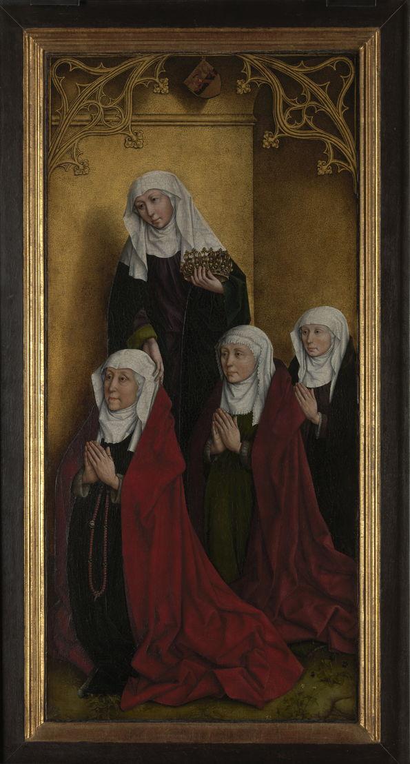 Rogier Van Der Weyden (navolger). Triptiek met de kruisafneming en schenkersportretten van Willem Edelheere en Aleydis Cappuyns, 1443<br/><br/>(c) www.lukasweb.be - Art in Flanders, foto (c) Dominique Provost