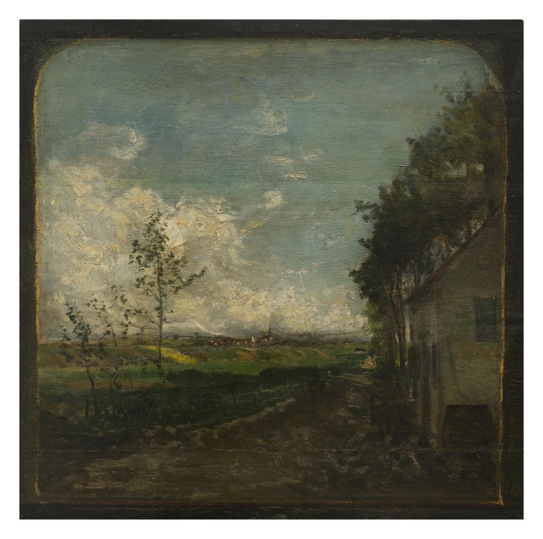Hippolyte Boulenger, Uithangbord van 't Oud Bareelke © Isabelle Arthuis