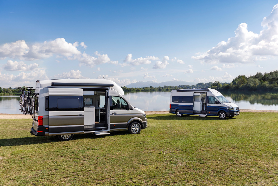 Volkswagen Commercial Vehicles presents premiere fireworks at the Caravan Salon 2018