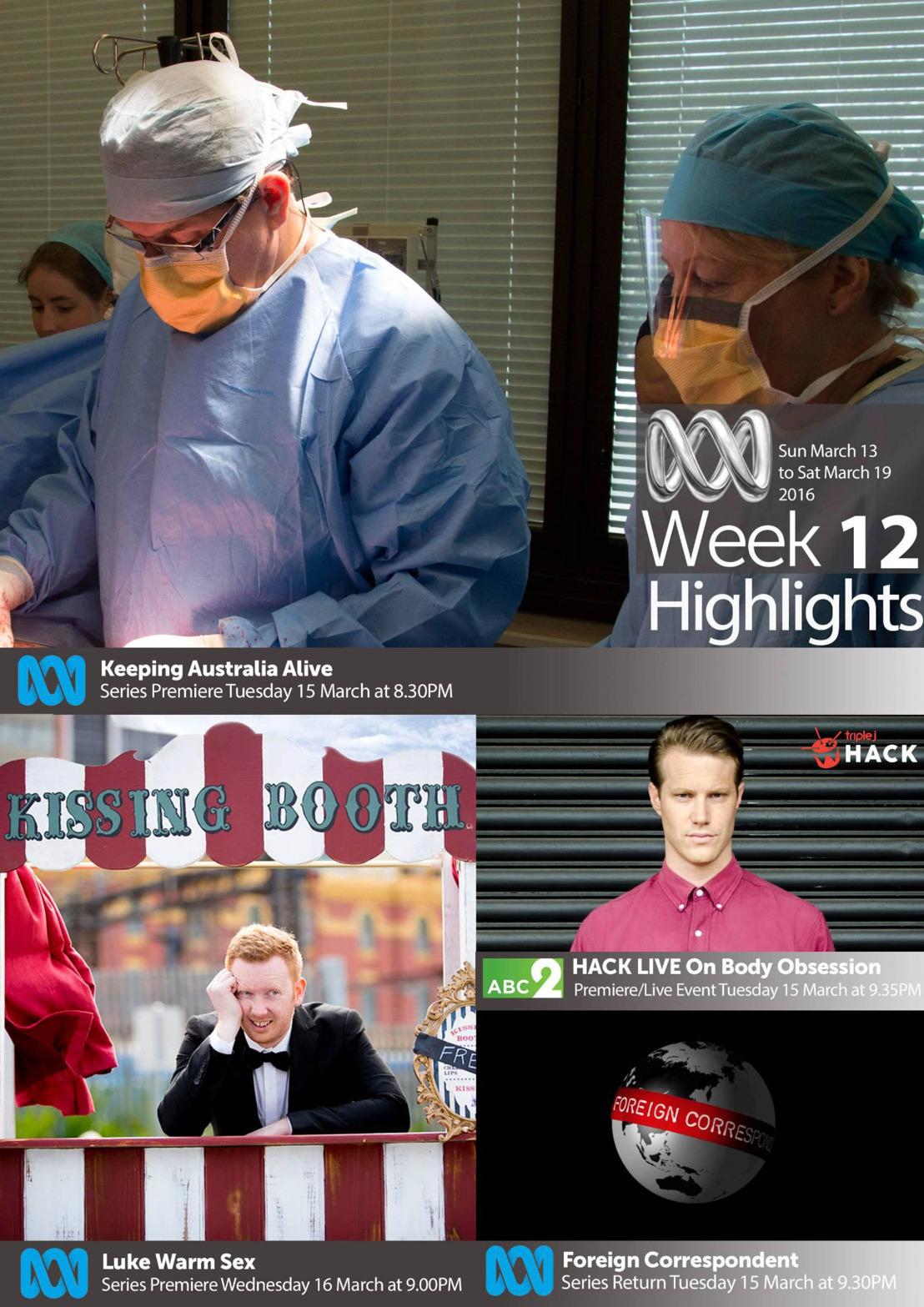 ABC TV Highlights - Week 12