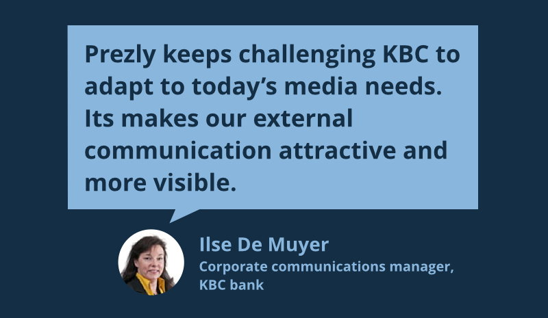 Quote by the corporate communication manager of KBC